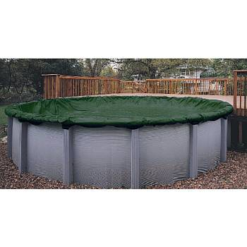 Winter Pool Cover / Pool Size 18ft x 40ft Oval / 12 yr Green - WC835-4