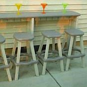 Outdoor Spa Bar and Stools