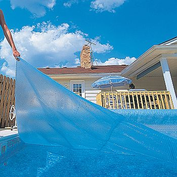 In Ground Solar Pool Covers - 12 mil Translucent Blue