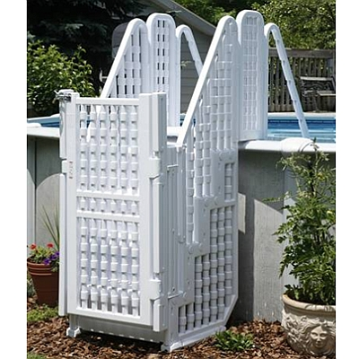 Easy Entry Pool Stairs System with Gate - NE138