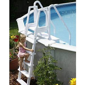 Easy Pool Step with Outside Ladder Attachment