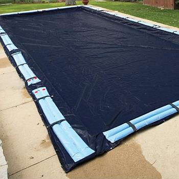 Winter Cover Arctic Armor / Pool Size 24ft x 40ft Rectangle / 8 yr Navy Blue