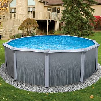 Martinique Oval Pool, Liner and Skimmer 18ft x 33ft x 52in