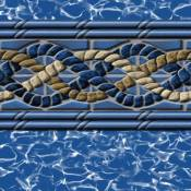 Vinyl Liner - AG 18ftx24ft Oval Pool -Mystri Gold Beaded 48in