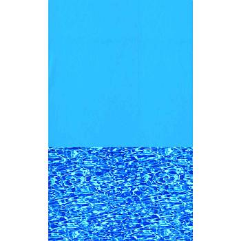 15x25ft Oval Pool Liner Blue Wall / Print Bottom
