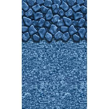 Vinyl Liner - AG 10ftx16ft Oval Pool - Boulder Swirl / Beaded 48in