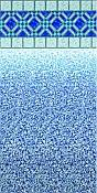 Blue Diamond - Beaded Vinyl Liner 48 Inch