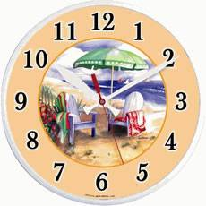 Beach Scene Outdoor Clock