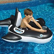 Orca Squirting Pool Float