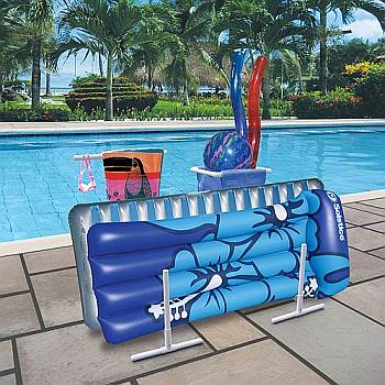 Raft, Float and Towel Caddy with Hamper