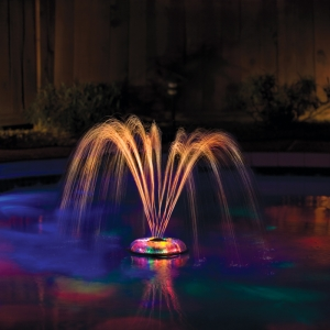 Small Underwater Pool Light Show and Fountain