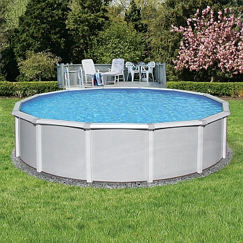 Samoan Round Pool, Liner and Skimmer  24ft x 52in