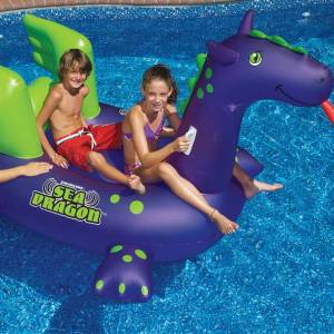 Sea Dragon Giant Ride On Pool Float