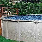 Tahitian Oval Pool and Skimmer 18ft x 33ft x 54in