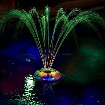 Light and Fountain for Swimming Pools
