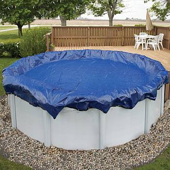 Winter Pool Cover / Pool Size 12ft x 20ft Oval / 15 yr Royal Blue - WC916-4