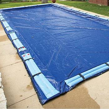 Winter Cover / Pool Size 16ft x 24ft Rectangle / 15yr Royal Blue - WC956