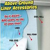 Above Ground Pool Liner Accessories  & Pool Equipment