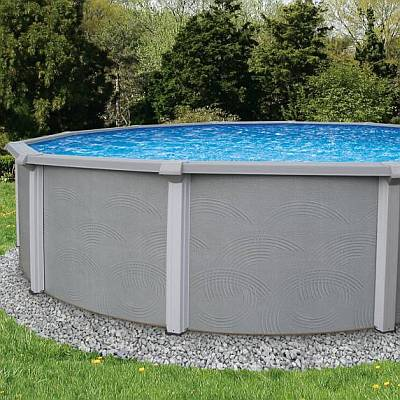 Zanzibar Round Pool Wall, Liner and Skimmer Only 27ft x 54in
