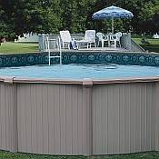 Bermuda Oval Aluminum Pool and Skimmer 18ft x 33ft x 54in