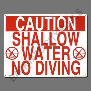 Shallow Water- No Diving Sign