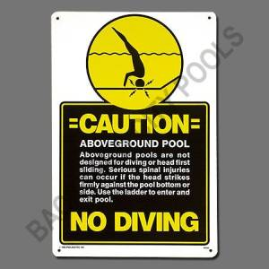 Above Ground No Diving Sign