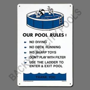 Pool Rules- Above Ground Sign