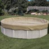 Winter Cover / Pool Size 33ft Round / 20 yr Tan