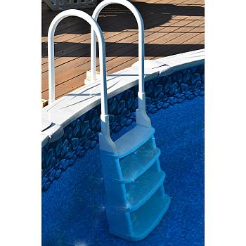 Easy Incline In Pool Deck Ladder