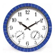 Blue Tile Indoor/Outdoor Clock - 12759BL
