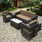Raffaella Resin Wicker Furniture Set