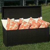 All Weather Wicker Cushion Storage Chest