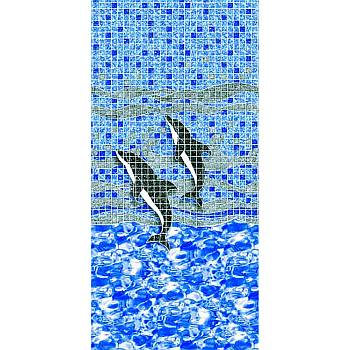 Vinyl Liner - AG  15ftX25ft Oval Pool - Dolphina Beaded