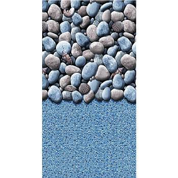Vinyl Liner - AG  15ftX25ft Oval Pool - Pebbles Beaded 25 Gauge