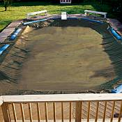 Winter Cover / Pool Size 14ft x 28ft Rectangle / 20yr Tan
