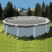 Winter Cover / Pool Size 12ft x 24ft Oval / 15 yr Silver