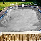 Winter Cover / Pool Size 25ft x 50ft Rectangle / 15yr Silver