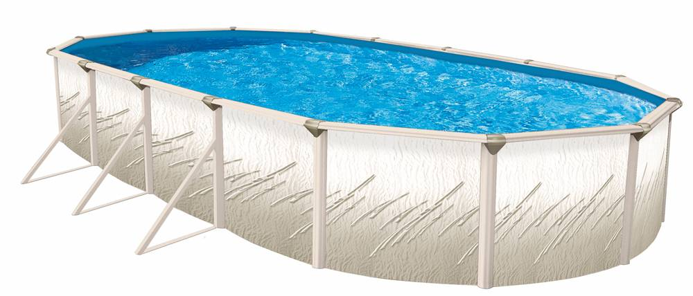 Pretium 18 x 33 x 52 inch Oval Pool, Liner and Skimmer