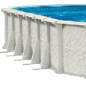 St. Tropez 21 x 43 x 54 inch Resin Oval Pool, Liner and Skimmer