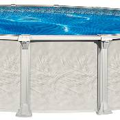St. Tropez 15ft Round x 54 inch Resin Pool, Liner and Skimmer