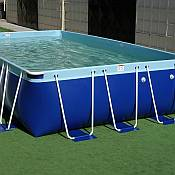Aqua Blue Above Ground Swimming Pool