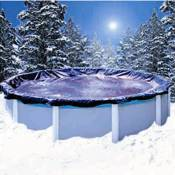 Swimline Winter Cover / Pool Size 15ft x 30ft Oval / 10 yr Blue