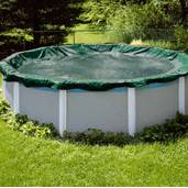 Swimline Winter Cover / Pool Size 16ft x 32ft Oval / 15 yr Green