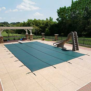 Super Mesh Safety Cover / Pool Size 14ft  x 28ft  Rectangle