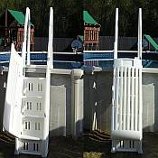 Neptune Deluxe Pool Steps With Gate