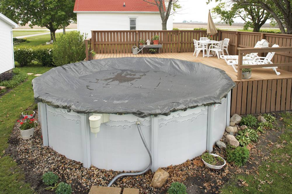 Winter Swimming Pool Cover / 15ft x 30ft Oval Above Ground Pools ...