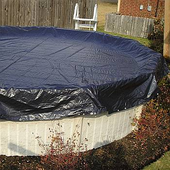 Winter Cover / Pool Size 15ft Round / 8 yr Navy Blue