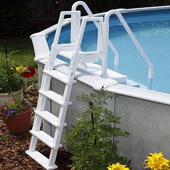 Easy Pool Steps With 2 Handrails Ne113