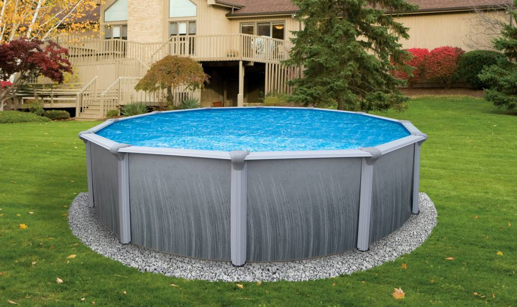 Above ground swimming pools for Above ground pool border ideas