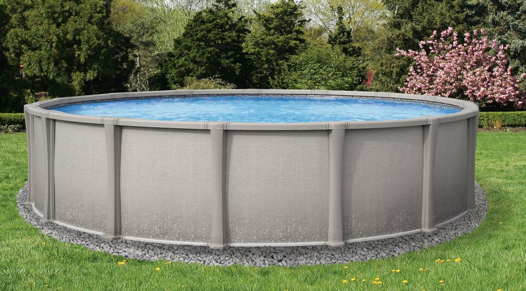 Matrix above ground resin round swimming pool 20ft x 54in nb1240 for Round swimming pools above ground